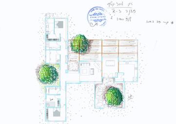 אדריכלית אלונה נבו סידי בית אבן טבעית בשילוב טיח מינרלי צבעים טבעיים חומרים טבעיים חלון ספסל חלון גדול אור טבעי