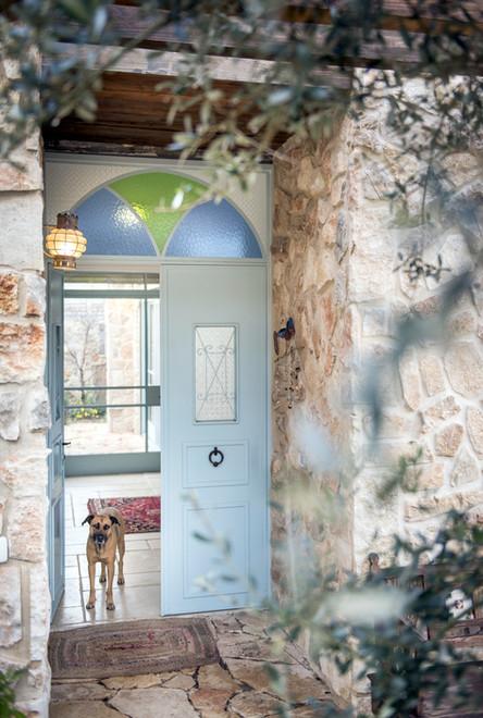 אדריכלית אלונה נבו סידי בית אבן דלת ברזל תכלת