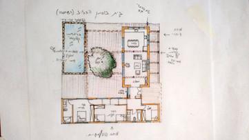 אדריכלית אלונה נבו סידי בית עם בריכה טיח מינרלי אור טבעי
