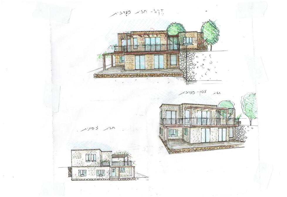 אדריכלית אלונה נבו סידי בית אבן טבעית נטף