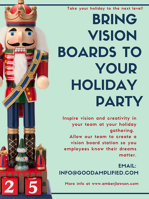 Holiday Party Corporate Vision Boarding