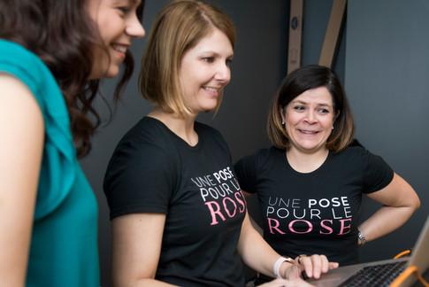 Une pose pour le rose