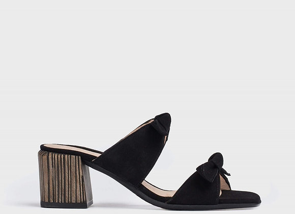 Sandalia tacón lazos Negro