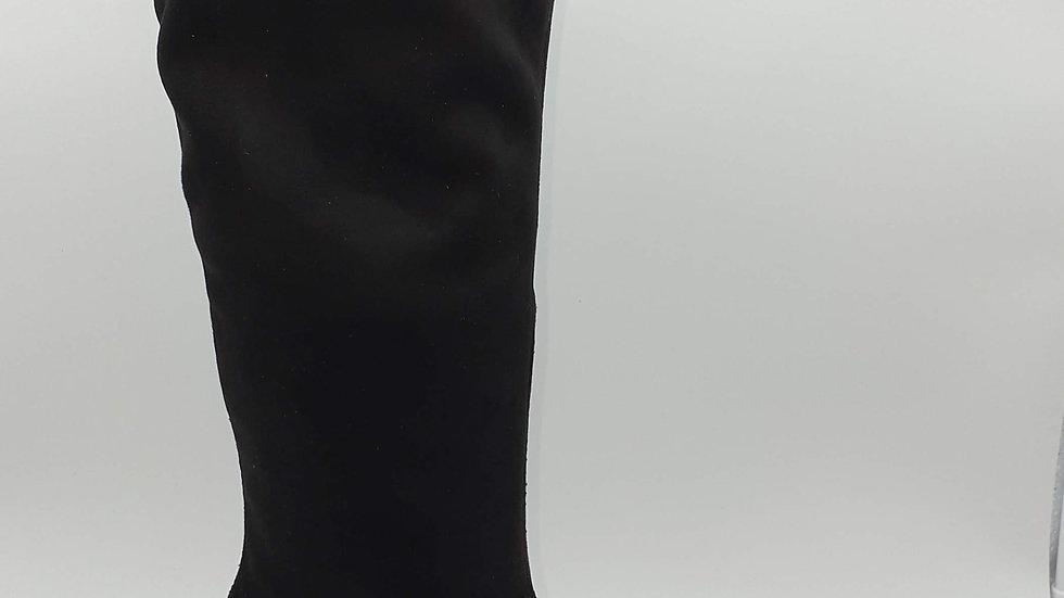 Bota lycra ante negro
