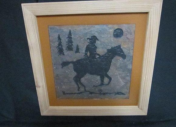 Rider on a running horse