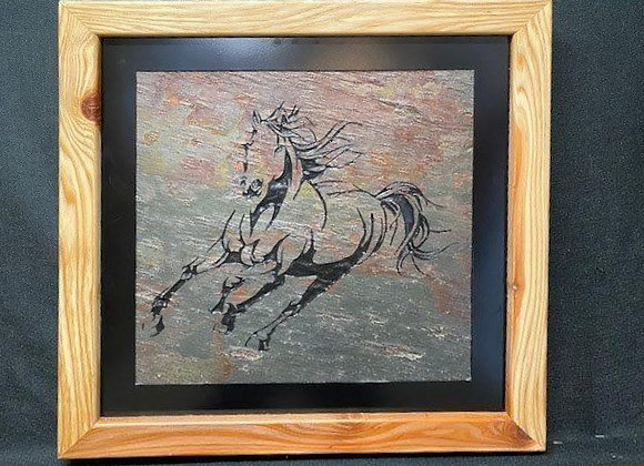 Galloping Horse with Mane Flying in the Wind
