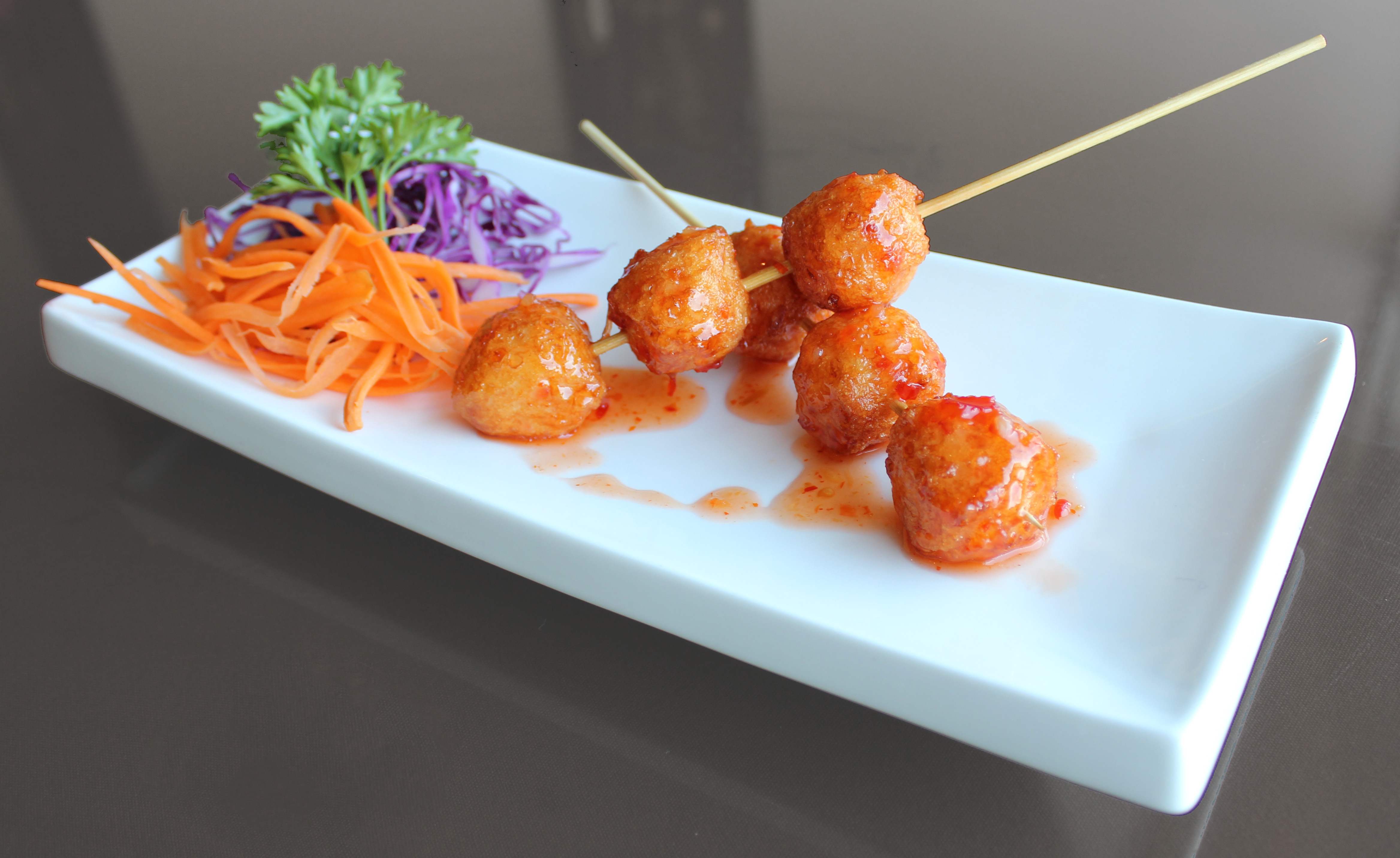 Shrimp Ball Skewers