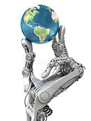 robot-keeps-earth-planet-hands-high-tech