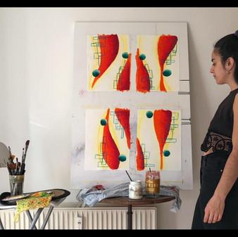 Agostina in studio