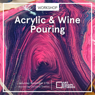 The workshop in Acrylic Pouring is for anyone who's looking to have fun, create beautiful art and completely let go of control and expectations.  We will try out different techniques in the different workshops so you can join more than one! 🙂 It's a beautiful and fun way to release your inner child and tune into your intuition, leaving your practical thinking and controlling mind behind. During this two-hour workshop, you will learn all the basics  you need to get started with Acrylic Pouring. You will be taught how to choose and mix your paints, how to prepare a workstation, how to use different tools and last but not least, how to mix and move your paints into unique designs and patterns! No experience is needed and we provide all the materials.  BEST PART- your first glass of wine is included!   You just need to show up, ready to have fun and let loose. Christina will teach the technique  Sunday September 26th and October 17th. So, choose the date that suits you most! Price per class: 395 DKK