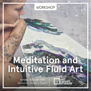Meditation and Intuitive Fluid Art is a two-hour workshop taught by the amazing Christina Thamm!