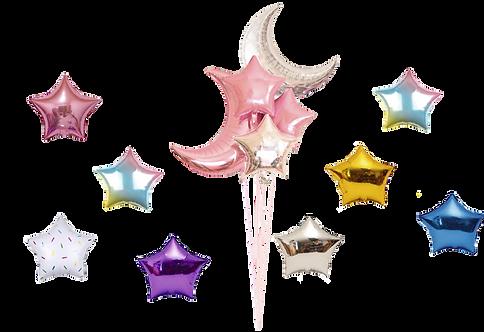 Гелиевые шары звезды и луна