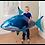 Гелиевый шар акула