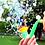 Много мыльных пузырей