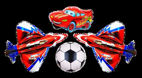 Воздушный шар машина, самолет, футбольный мяч