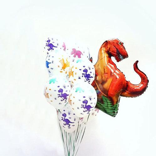 Композиция с одной фигурой динозавра