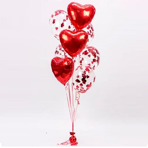 Сердца и конфетти