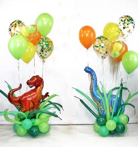 Композиция с динозавром напольная