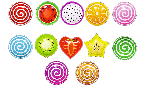 яркие воздушные шарики