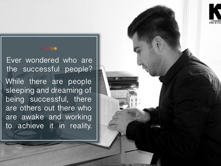 Ever wondered who the successful people are?