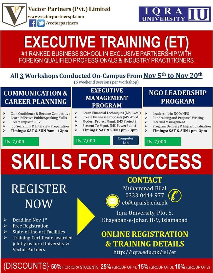 Executive Training Program _ Saud Masud _ consulting & capacity building
