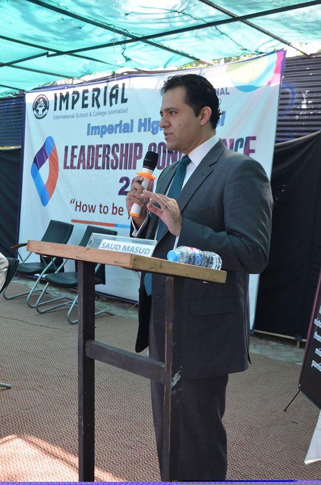Mr. Saud Masud moderating IISC Leadership Conference