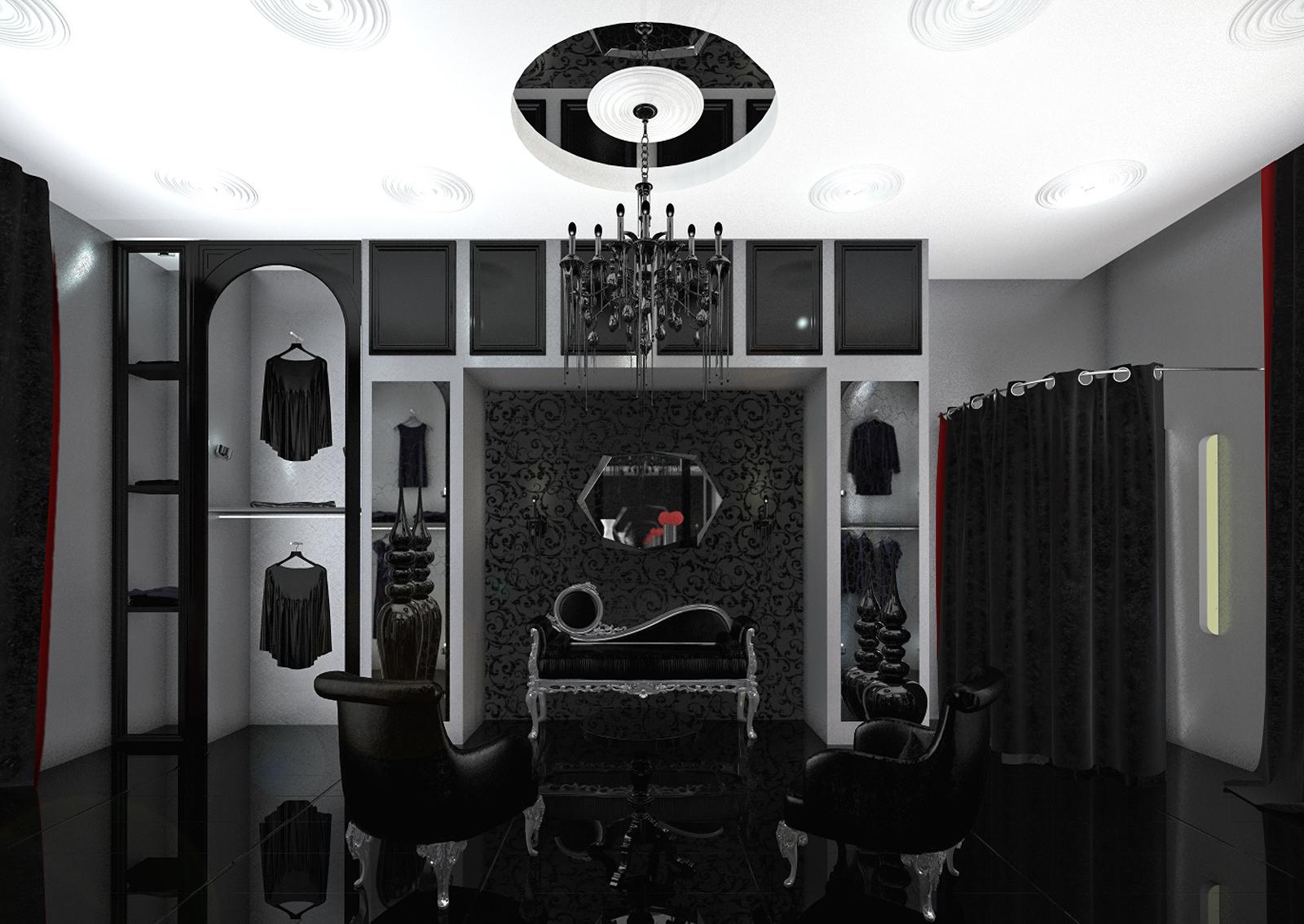 Showroom, shop, 3d