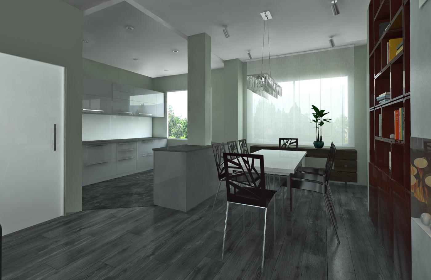 kitchen, planning, 3d