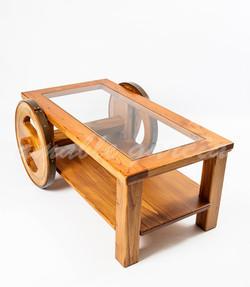 Mesa salón castaño con rodas_4