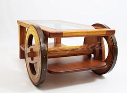 Mesa salón castaño con rodas_5