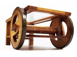 Mesa salón castaño con rodas_6