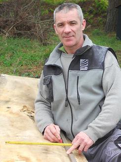 Amable Garcia carpinteiro de ribeira e artesán