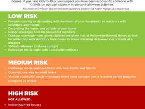 HEALTH DEPARTMENT RELEASES HALLOWEEN GUIDANCE, OFFERS TIPS FOR SAFER ACTIVITIES; HEALTH OFFICER RECO