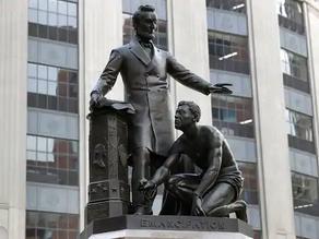 Controversial Lincoln Statue Is Removed in Boston, but Remains in D.C.
