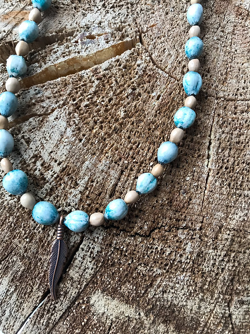 SEED & FEATHER NECKLACE