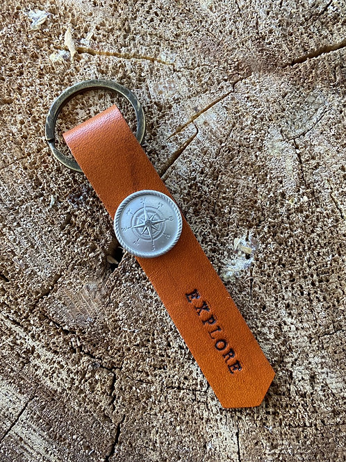 EXPLORE KEYCHAIN- COMPASS