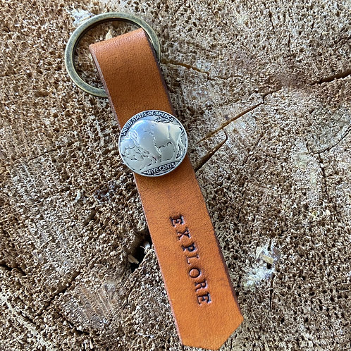 EXPLORE KEYCHAIN-BUFFALO NICKEL
