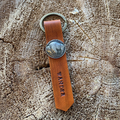 WANDER KEYCHAIN-BUFFALO NICKEL