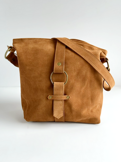 ABIGAIL SHOULDER BAG-SUEDE