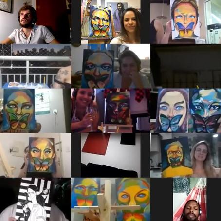 Art & Jazz reuniu mais de 100 pessoas pintando e curtindo shows da Jazz Mansion