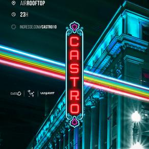 Castro volta ao Air Rooftop em sua 10ª edição nesse sábado