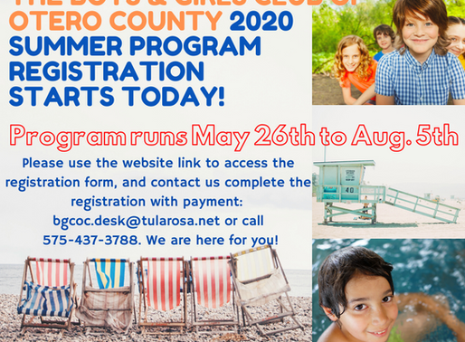 It's Time for Summer Fun! Register for our Summer Program Today!