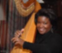 Candace Lark harpist / The happy Musician