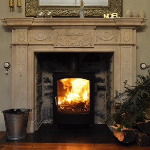 Fireplace and woodunrner installation, Knole, Long Sutton