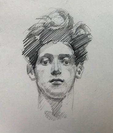 jory glazener-sketch drawing-portrait-man-sargent