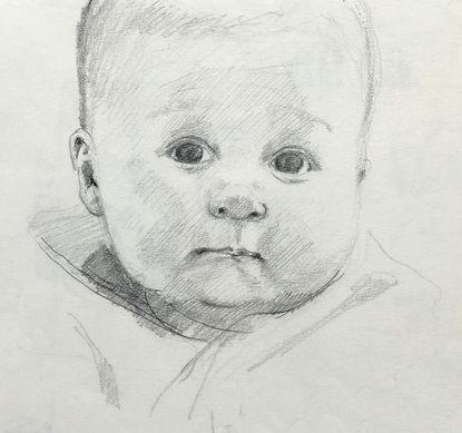 jory glazener-sketch drawing-portrait-baby