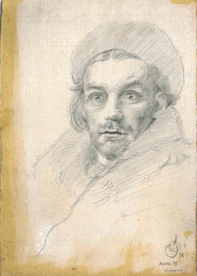 silverpoint self portrait