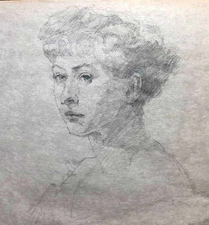 jory glazener-sketch drawing-portrait-woman-sargent
