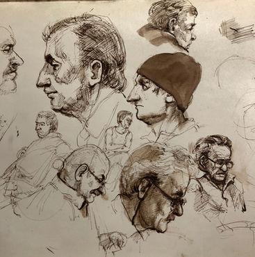 jory glazener-ink drawing-portrait-men