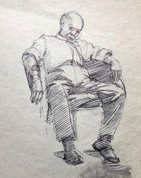 jory glazener-ink drawing-man